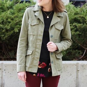 Madewell Outbound Olive Green Utility Jacket